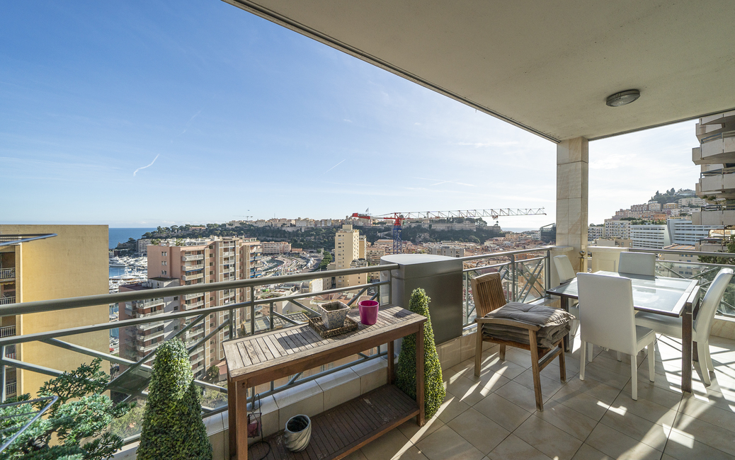 Moneghetti - Harbour Crest - 3-4-room flat - Sea and Port views - 1