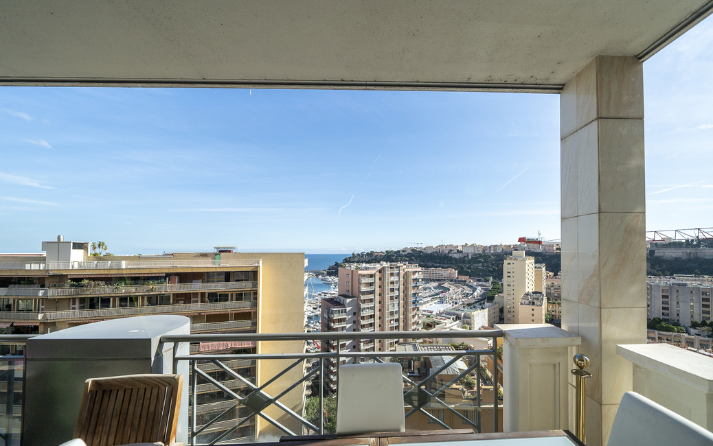 Moneghetti - Harbour Crest - 3-4-room flat - Sea and Port views - 3