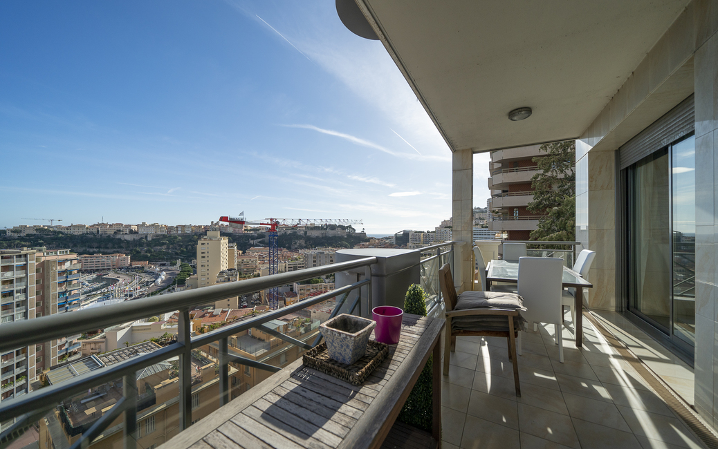 Moneghetti - Harbour Crest - 3-4-room flat - Sea and Port views - 2